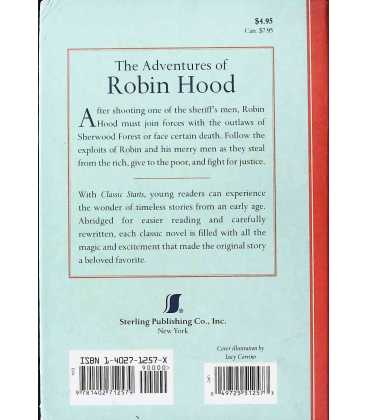The Adventures of Robin Hood Back Cover