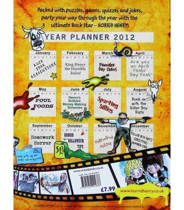 Horrid Henry Annual 2012 Back Cover