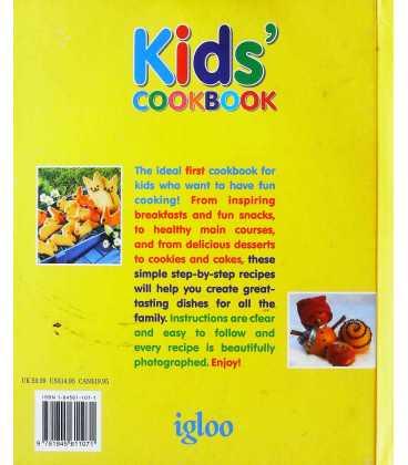 Kids Cookbook: An Ideal First Cookbook for Children Back Cover