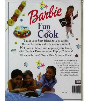 Barbie: Fun to Cook Back Cover