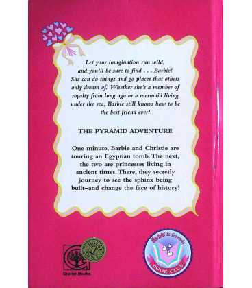 Barbie: The Pyramid Adventure Back Cover