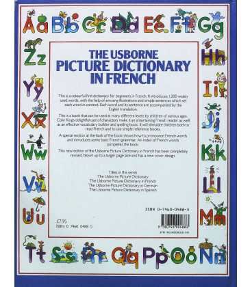 The Usborne Picture Dictionary in French Back Cover