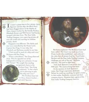 The Journey to World's End (Disney Pirates of the Caribbean At Worlds End) Inside Page 1