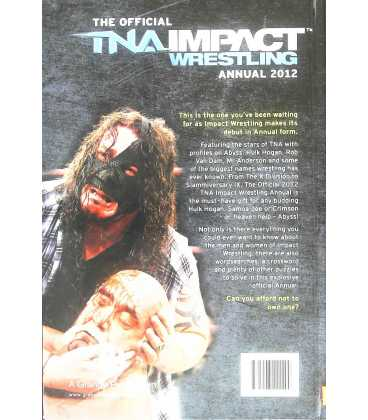 Official TNA Wrestling Annual 2012 Back Cover
