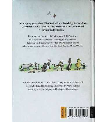 Winnie-the-Pooh: Return to the Hundred Acre Wood Back Cover