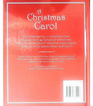 A Christmas Carol Back Cover