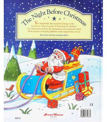 The Night Before Christmas Back Cover