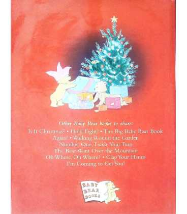 Baby Bear's Christmas Kiss Back Cover