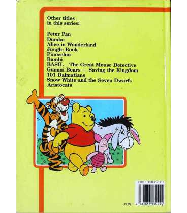 Winnie the Pooh Back Cover