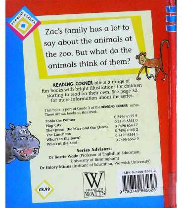 Who's at the Zoo? (Reading Corner) Back Cover