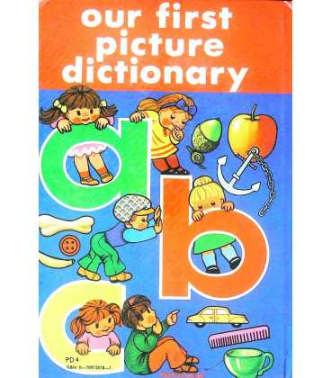 Our First Picture Dictionary Back Cover