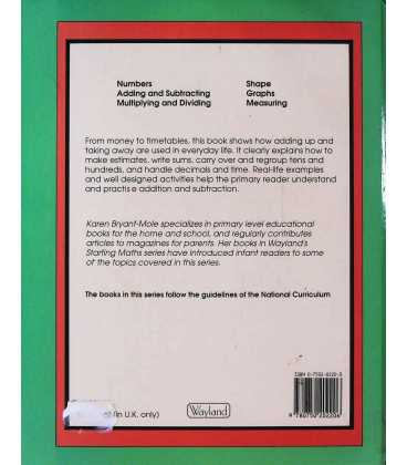 Understanding Maths: Adding and Subtracting Back Cover