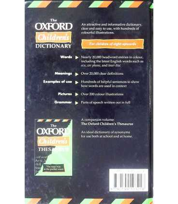 The Oxford Children's Dictionary Back Cover