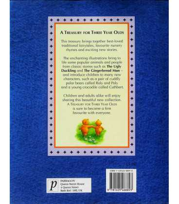 A Treasury For 3 Year Olds Back Cover