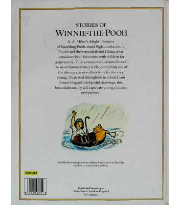 Stories of Winnie-the-Pooh Back Cover