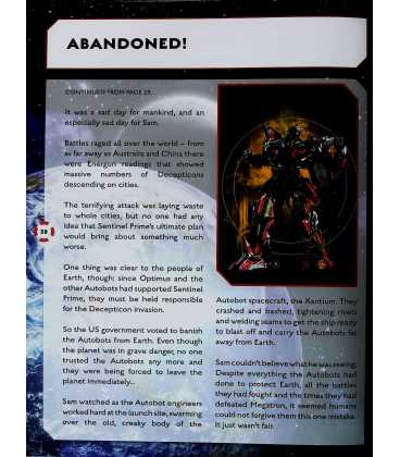 Transformers Dark of the Moon Annual 2012 Inside Page 1