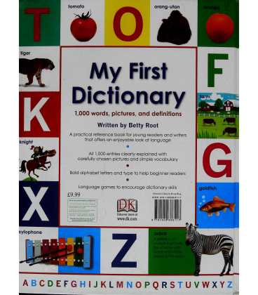 My First Dictionary Back Cover