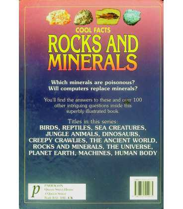 Rocks and Minerals Back Cover