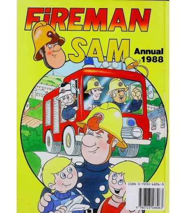 Fireman Sam Annual 1988 Back Cover
