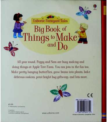 Big Book of Things to Make and Do Back Cover