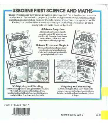 Weighing & Measuring (Usborne First Maths) Back Cover