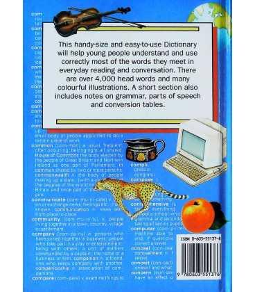 Children's Pocket Dictionary Back Cover