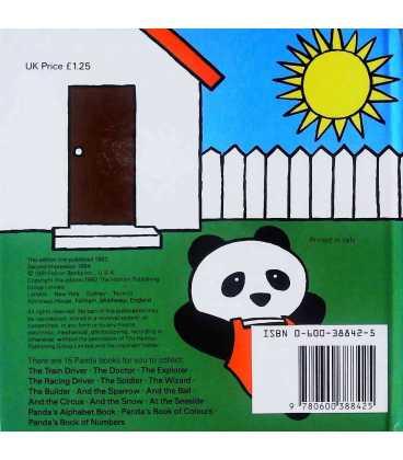 Panda the Explorer Back Cover