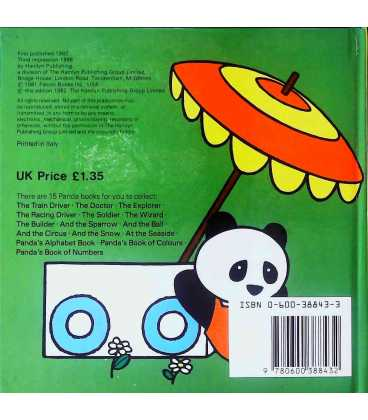 Panda the Racing Driver Back Cover