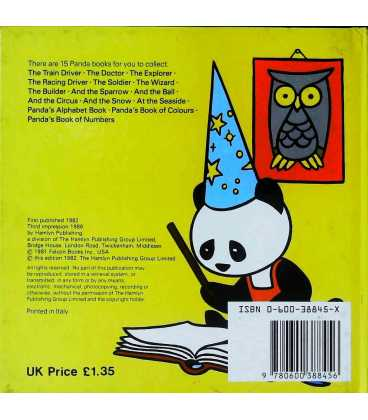 Panda the Wizard Back Cover