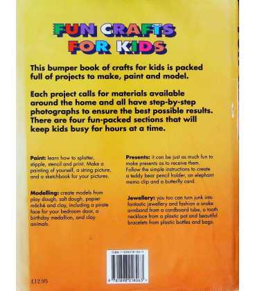 Fun Crafts for Kids Back Cover