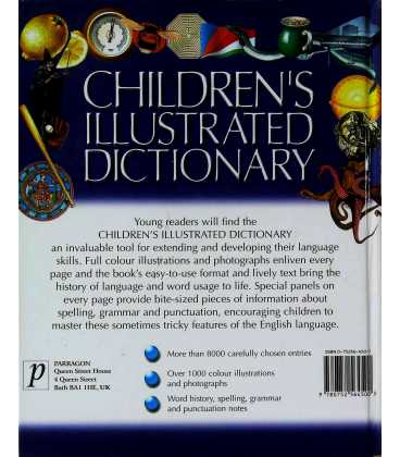 Children's Illustrated Dictionary Back Cover
