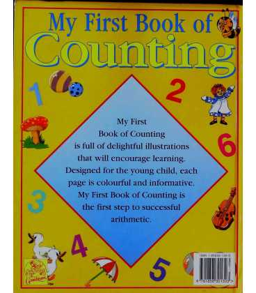 My First Book of Counting Back Cover