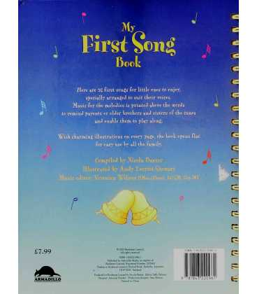 My First Song Book Back Cover