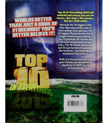 Top 10 of Everything 2015 Back Cover