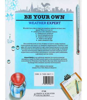 Be Your Own Weather Expert Back Cover