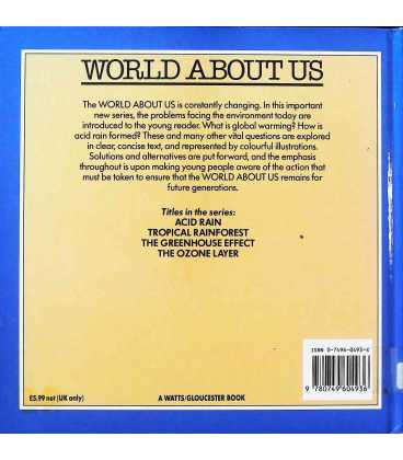 The Ozone Layer (World About Us) Back Cover