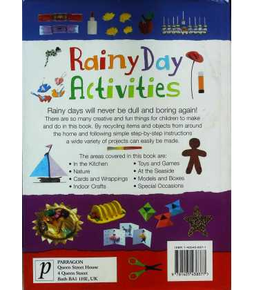 Rainy Day Activities Back Cover
