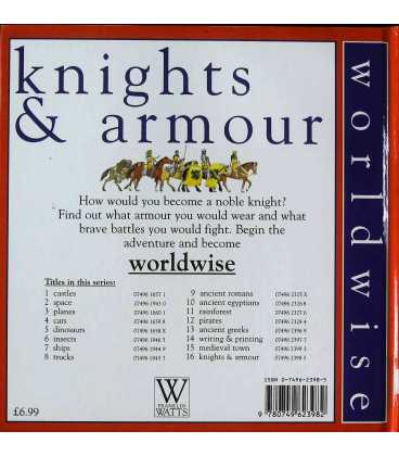 Knights and Armour (Worldwise) Back Cover