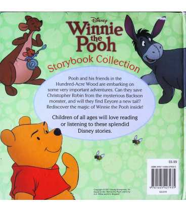 Disney Winnie the Pooh Storybook Collection Back Cover