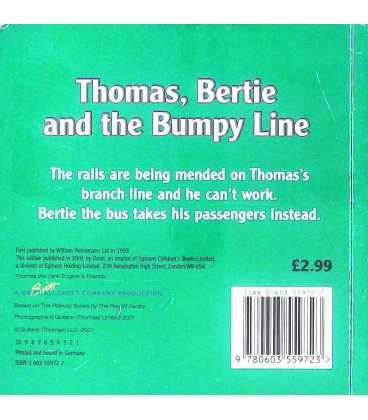 Thomas, Bertie and the Bumpy Line Back Cover