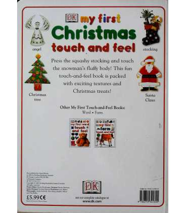 My First Christmas Touch and Feel Book Back Cover