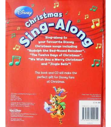 Christmas Sing-Along Back Cover