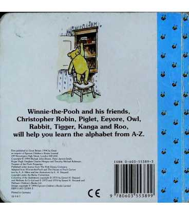Winnie-the-Pooh's ABC Back Cover