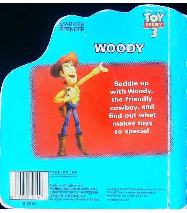 Woody: Howdy, cowboy! Back Cover