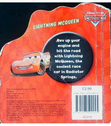 Lightning McQueen Back Cover