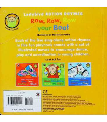 Ladybird Action Rhymes: Row, Row, Row Your Boat Back Cover