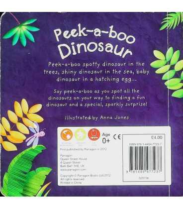 Peek-a-boo Dinosaur Back Cover