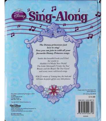 Disney Princess Sing-Along Back Cover
