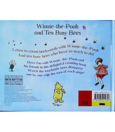 Winnie-the-Pooh and Ten Busy Bees Back Cover