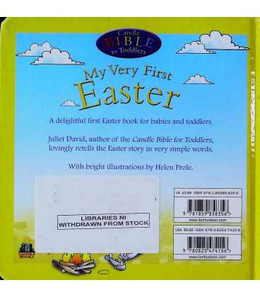 My Very First Easter (Candle Bible for Toddlers) Back Cover